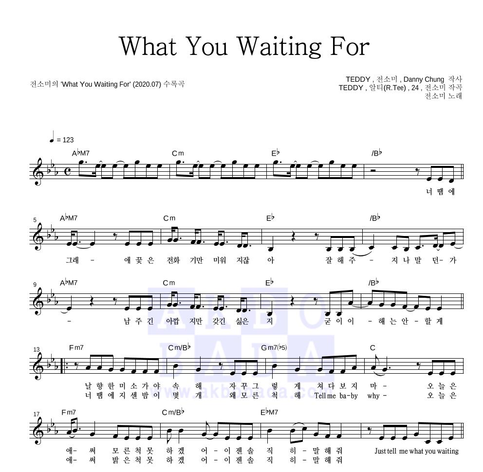 전소미 - What You Waiting For  악보